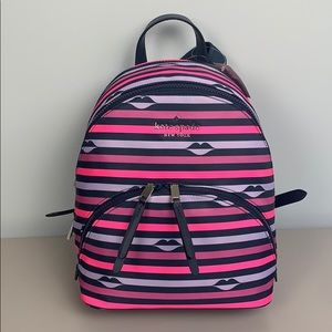 NWT Kate Spade Karissa Lip Print Backpack